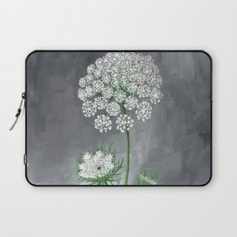 Queen Anne's Lace Flower Painting Laptop Sleeve