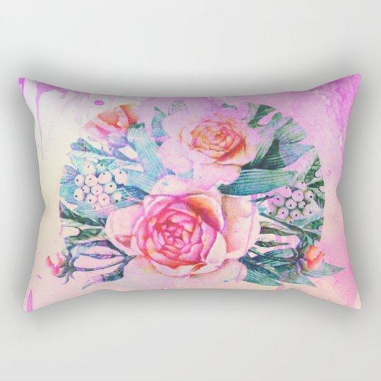 bouquet and watercolors Rectangular Pillow