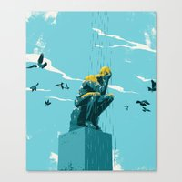 depression Canvas Prints featuring Depression by mark smith