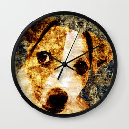 「sit」Jack Russell Terrier Wall Clock