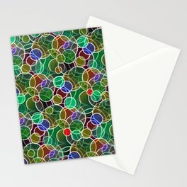 Psychedelic Circles Stationery Cards
