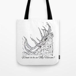 OLena Art Elk Design 'Want to be in My Harem?' Tote Bag