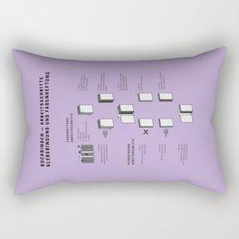 Buchbinden – Arbeitsschritte Klebebindung und Fadenheftung Rectangular Pillow