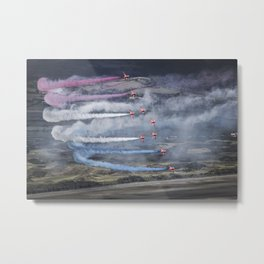 The Red Arrows Newcastle Metal Print