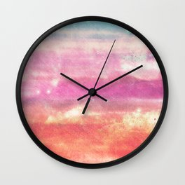 Salmon Skies Wall Clock