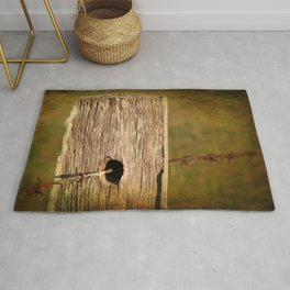Barbed wire fence Rug