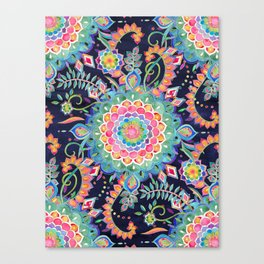 Color Celebration Mandala Canvas Print