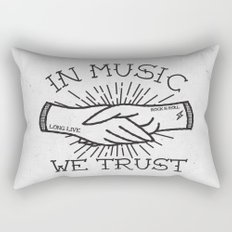 In Music We Trust Rectangular Pillow