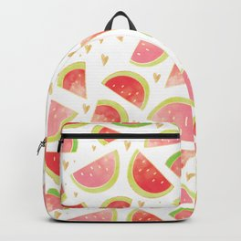 Pink & Gold Watermelon Slices Backpack