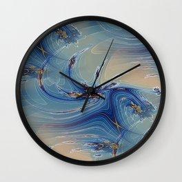 Fractal Flash Splash Wall Clock