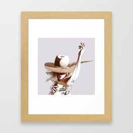 Mirror on the ceiling Framed Art Print