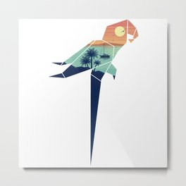 Origami Parrot (voyage by boat) Metal Print