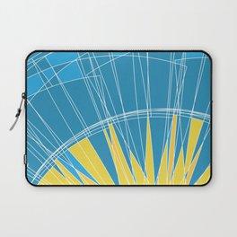 Abstract pattern, digital sunrise illustration Laptop Sleeve
