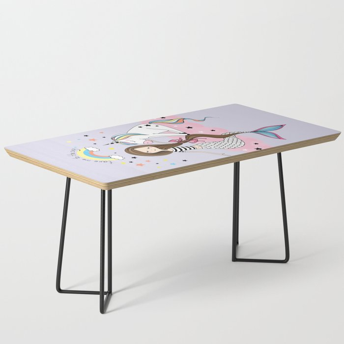 Mermaid & Unicorn Coffee Table