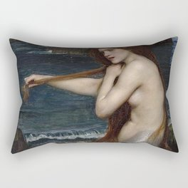 A MERMAID - WATERHOUSE Rectangular Pillow