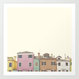 Colored Houses Art Print