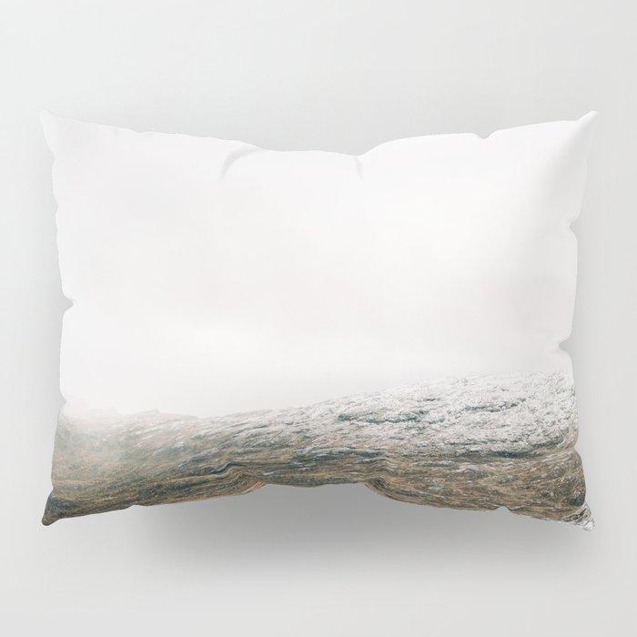 White winter mountain landscape | Norway travel photography print | Trolltunga Wanderlust art Pillow Sham