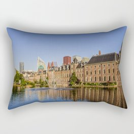 The Hague skyline and Binnenhof parliament building Rectangular Pillow