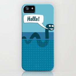 Hello Nessi iPhone Case