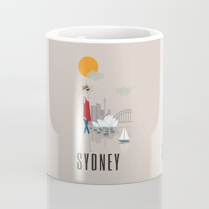 Sydney - In the City - Retro Travel Poster Design Coffee Mug