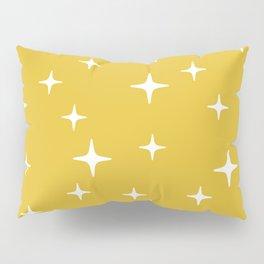 Mid Century Modern Star Pattern 443 Mustard Yellow Pillow Sham