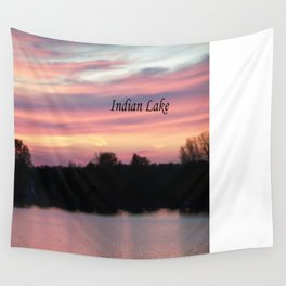 Indian Lake Sunset Wall Tapestry