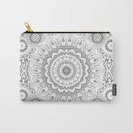 MOONCHILD MANDALA BLACK AND WHITE Carry-All Pouch
