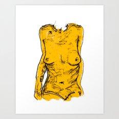 The Yellow Bits Art Print