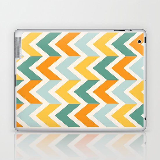 Citrus Chevron Laptop & iPad Skin