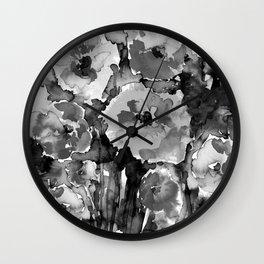 Floral Enchantment No.17D by Kathy Morton Stanion Wall Clock
