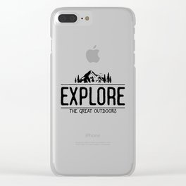 Explore the Great Outdoors Clear iPhone Case