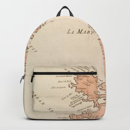 Vintage Map of St Lucia & Martinique (1781) Backpack