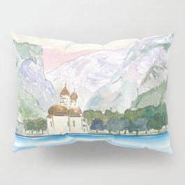 Saint Bartholomew Church Koenigsee with Watzmann Mountain Pillow Sham