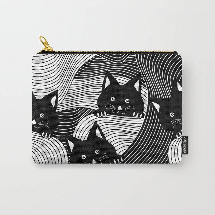 Hidden Kitties Carry-All Pouch