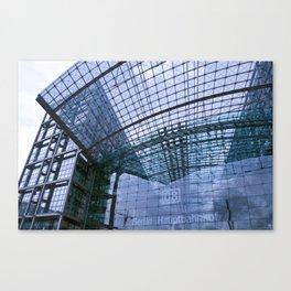 Facade - Train station - Berlin Canvas Print