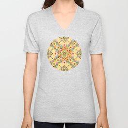 Pastel Mandala Rainbow Unisex V-Neck