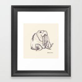 Ink Walrus Framed Art Print