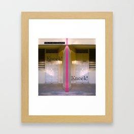 KNOCK KNOCK! Framed Art Print