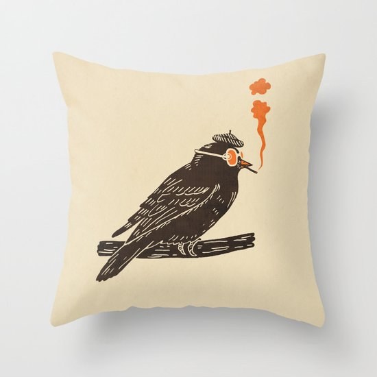 Beaknik  Throw Pillow