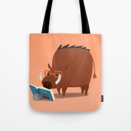 Warthog and his Good Book Tote Bag