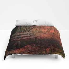 Days Gone By, Forest Landscape Bench Comforters