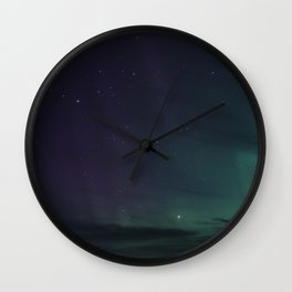 Northern lights at the White sea Wall Clock
