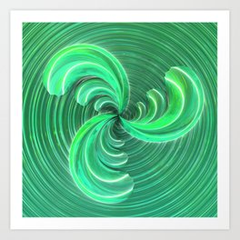 Verde Glass Bow Art Print