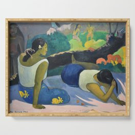 Paul Gauguin - Reclining Tahitian Women, Arearea no varua ino (1894) Serving Tray