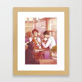 Cat Café Framed Art Print