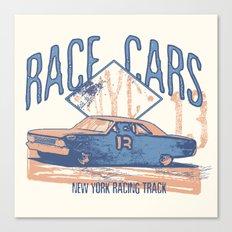 Race cars Canvas Print