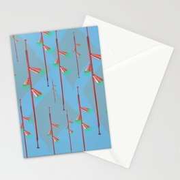 Mid Century Illumination: Copper Blue and Green Palette Stationery Cards