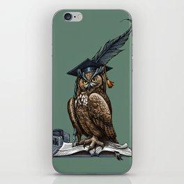 Genius owl iPhone Skin