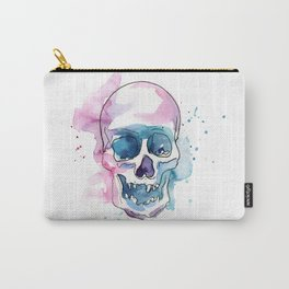 Abstract Skull Watercolor Carry-All Pouch