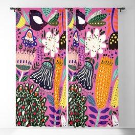 Summer Tropical Pattern Bird Flowers Blackout Curtain